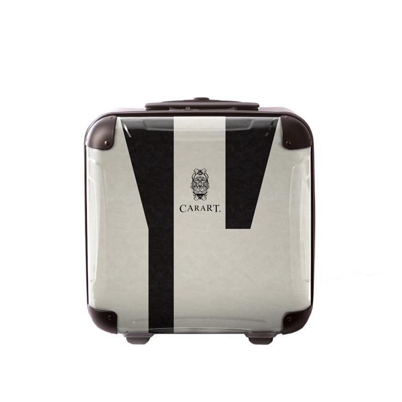 アートスーツケース|ビジネス ナイト(モノトーン)|ジッパー2輪|機内持込|キャラート