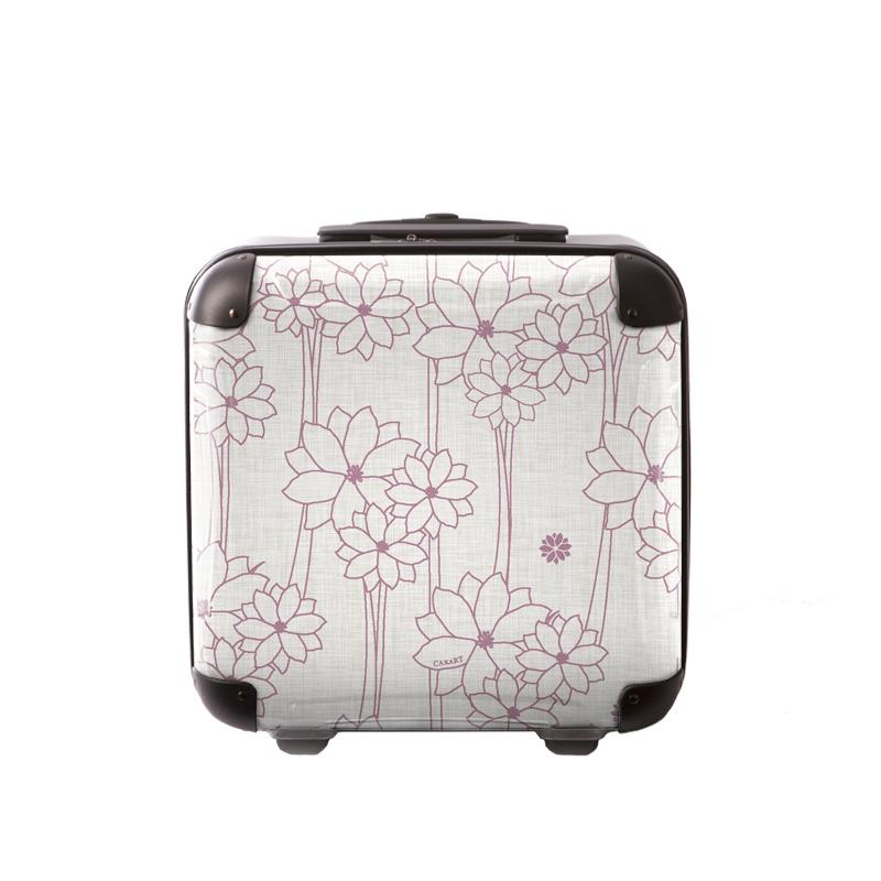 アートスーツケース|ジャパニーズ旅趣 | 水仙華(ホワイトピンク)|ジッパー2輪|機内持込|キャラート