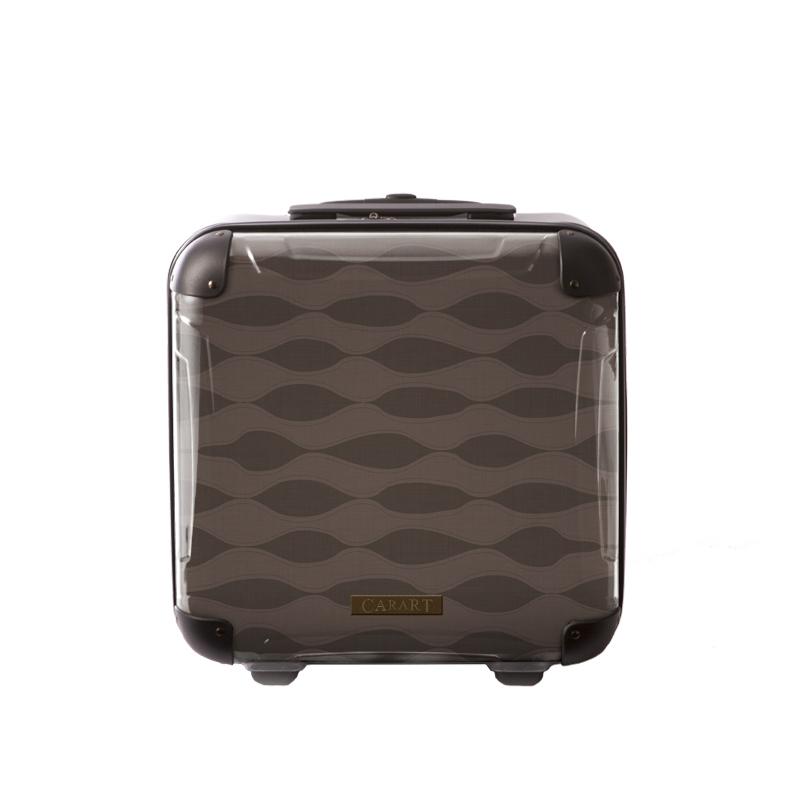 アートスーツケース|ジャパニーズ旅趣|波線織(ブラウン)|ジッパー2輪|機内持込|キャラート
