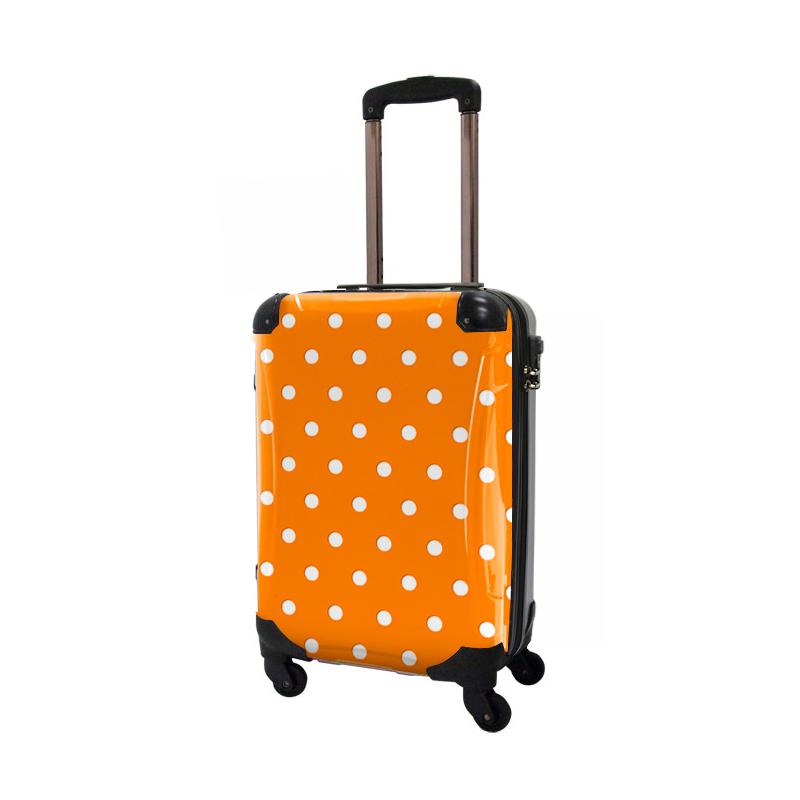 キャラート|着替えデザインシート|ベーシック カラードット(オレンジ)|アートスーツケース CR-A02/CR-A02H用