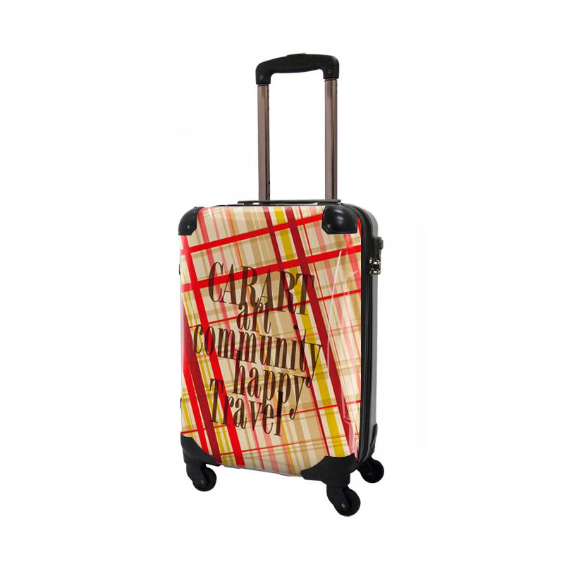 キャラート アートスーツケース ベーシック マドラスチェック(マドラス3) ジッパー4輪 機内持込