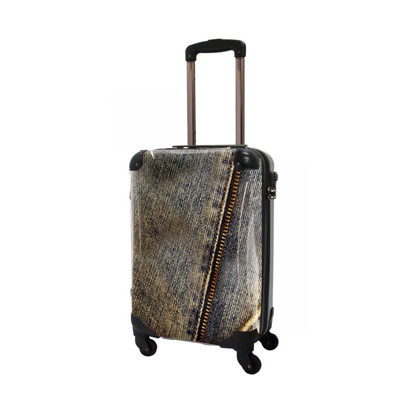 キャラート アートスーツケース ポップニズム デニム(ブルー) ジッパー4輪 機内持込