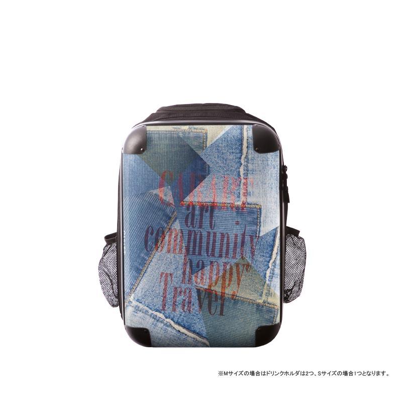 キャラート|アートリュックサック|ポップニズム デニム(コラージュブルー3)|S 15inch|M 18inch