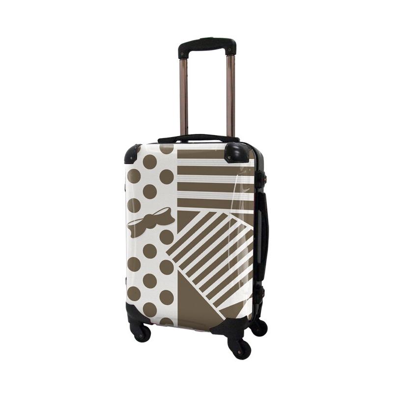 アートスーツケース|プロフィトロール ポポ(ライトブラウン)|フレーム4輪|機内持込|キャラート