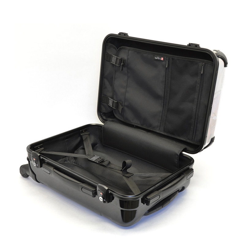 アートスーツケース ポップニズム アメリカン(レッド×ブルー) フレーム4輪 機内持込 キャラート