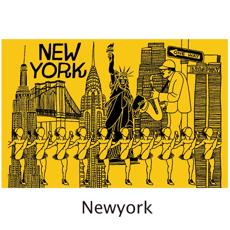 真空シティボトル NEWYORK   イエロー×ブラック ALEXYANG