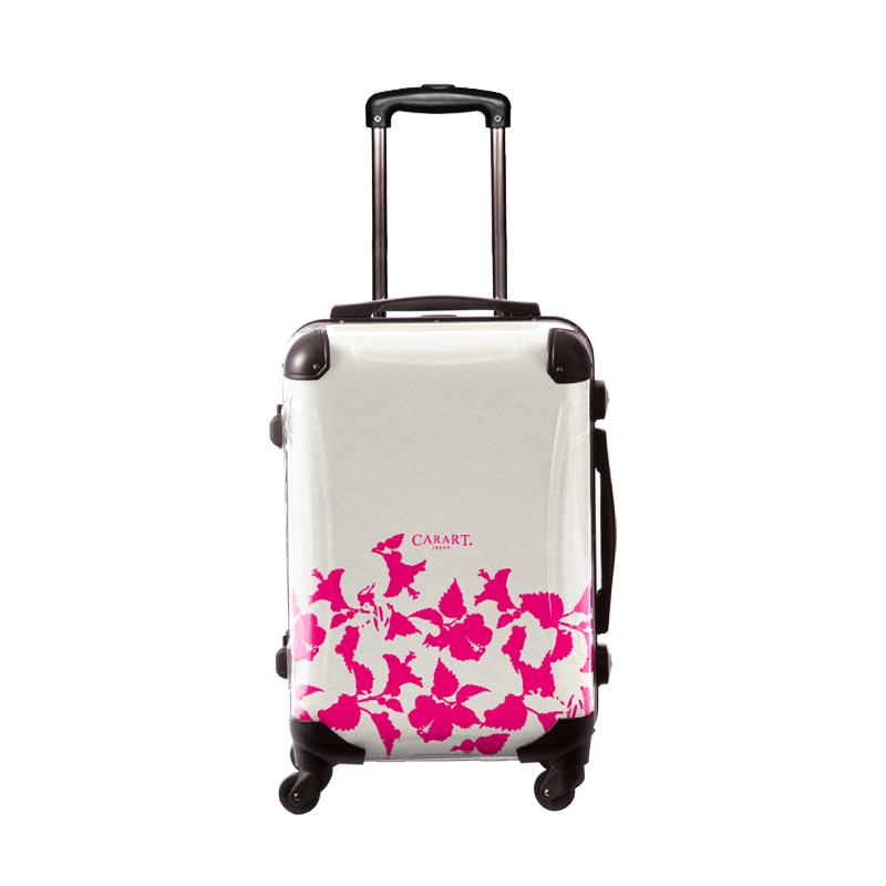 アートスーツケース ベーシック ピポパ(リーフモモ) フレーム4輪 機内持込 キャラート