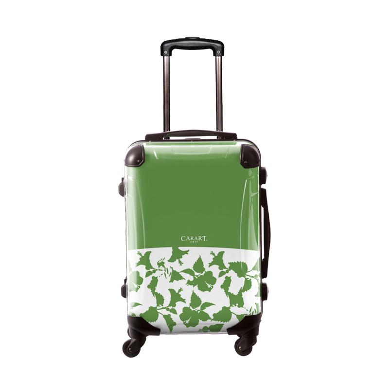 キャラート|アートスーツケース|ベーシック ピポパ(グリーンティ)|フレーム4輪|機内持込