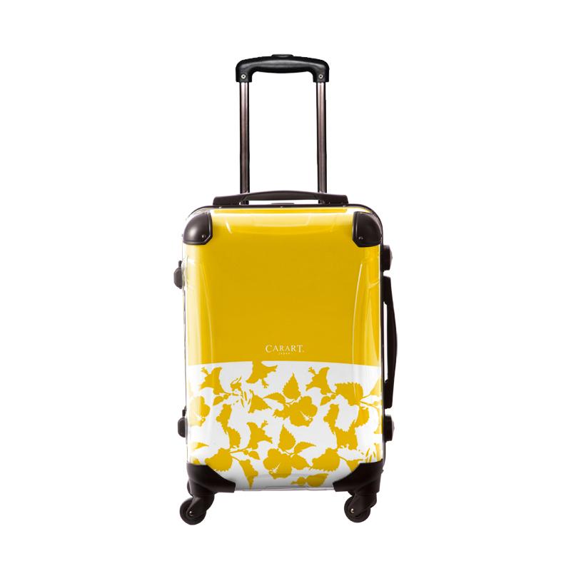 キャラート アートスーツケース ベーシック ピポパ(イエロー) フレーム4輪 機内持込