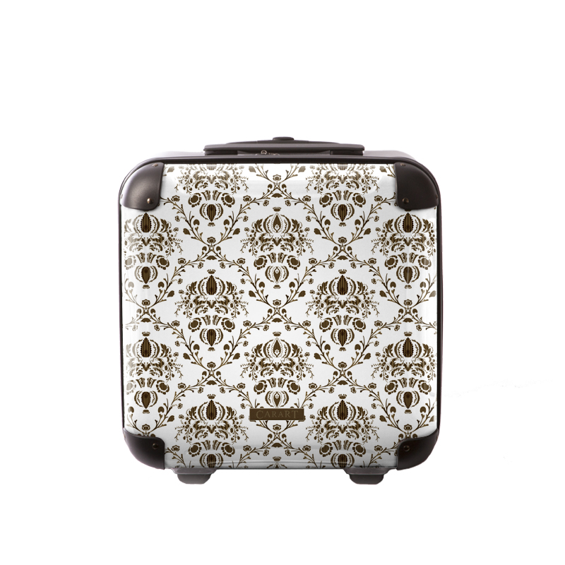 キャラート|アートスーツケース|ベーシック ヴォイジュ(ホワイト)|ジッパー2輪|機内持込
