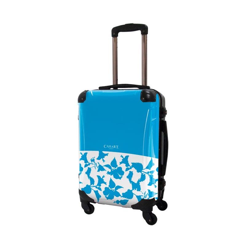 キャラート|アートスーツケース|ベーシック ピポパ(スカイブルー)|フレーム4輪|機内持込