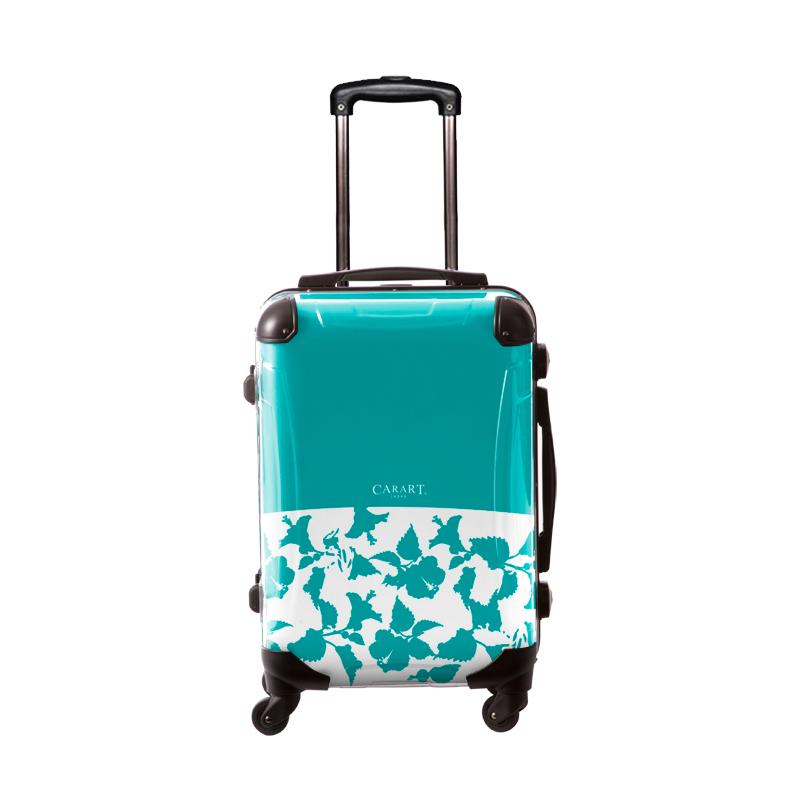 キャラート|アートスーツケース|ベーシック ピポパ(エメラルド)|フレーム4輪|機内持込