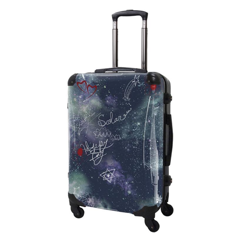 キャラート|アートスーツケース|ScoLar|スカラー宇宙|フレーム4輪|63L