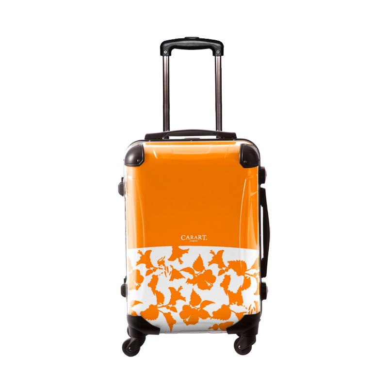 キャラート アートスーツケース ベーシック ピポパ(オレンジ) フレーム4輪 機内持込