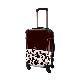キャラート|アートスーツケース|ベーシック ピポパ(ダークブラウン)|フレーム4輪|機内持込