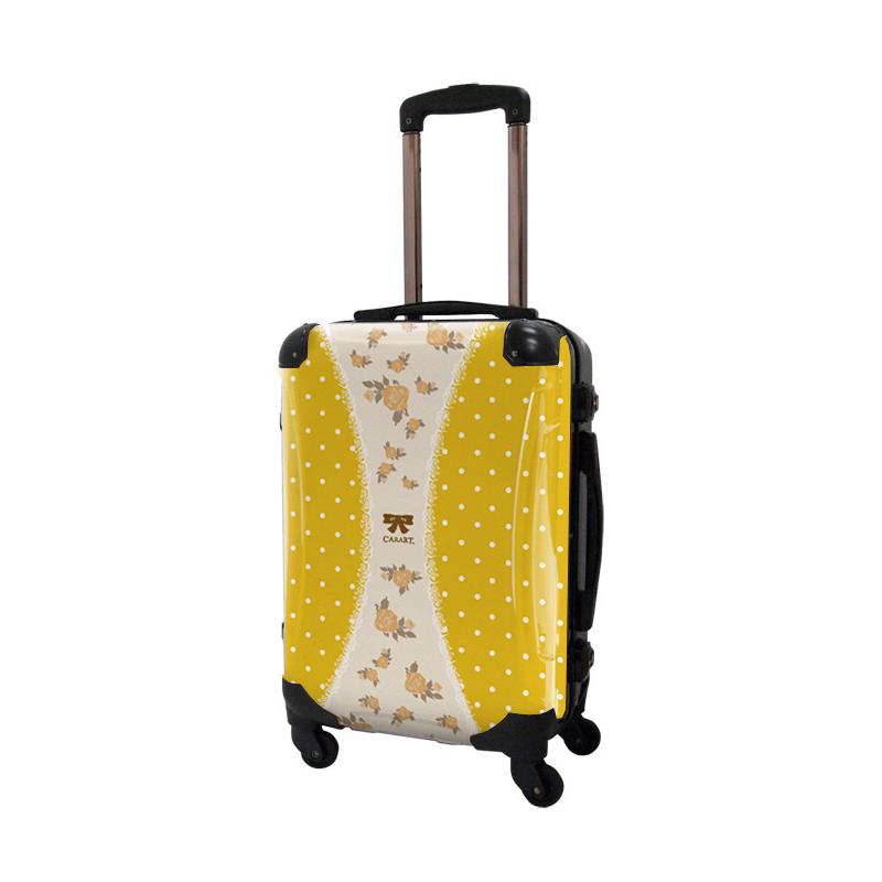 【アウトレット50%OFF】キャラート アートスーツケース プロフィトロール ゆるり1(藤黄) フレーム4輪 機内持込