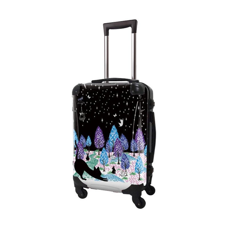 キャラート|アートスーツケース|ScoLar|スカラーキャット02|フレーム4輪|機内持込