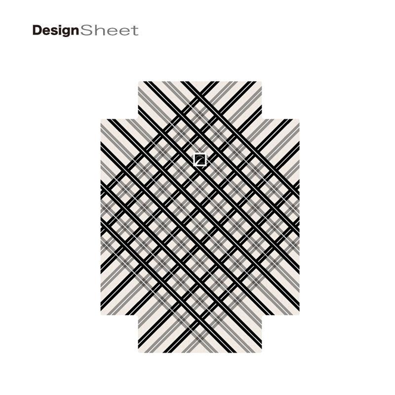 キャラート|着替えデザインシート|ベーシック  スペースチェック(ブラック×グレー)|アートリュックサック用