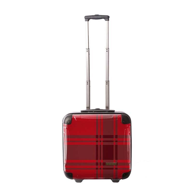 キャラート アートスーツケース ベーシック  カラーチェックモダン(レッド) ジッパー2輪 機内持込