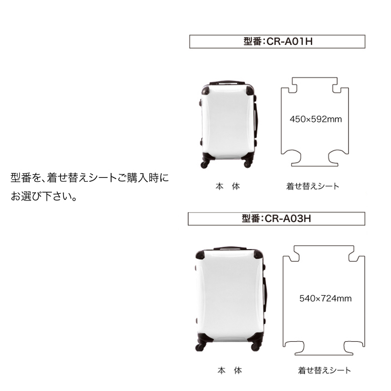 着せ替えデザインシート|ScoLar|スカラー メルヘンポップ|ターコイズ|アートスーツケースCR-A01H用|キャラート