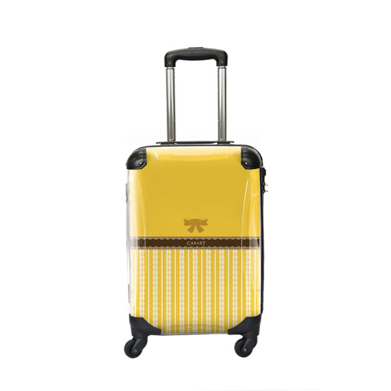 キャラート|アートスーツケース|プロフィトロール バニラ(藤黄)|ジッパー4輪|機内持込