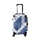 キャラート|アートスーツケース|TETRIS|テトリス ジャパニーズ 1 (ネイビー×ホワイト)|フレーム4輪|機内持込