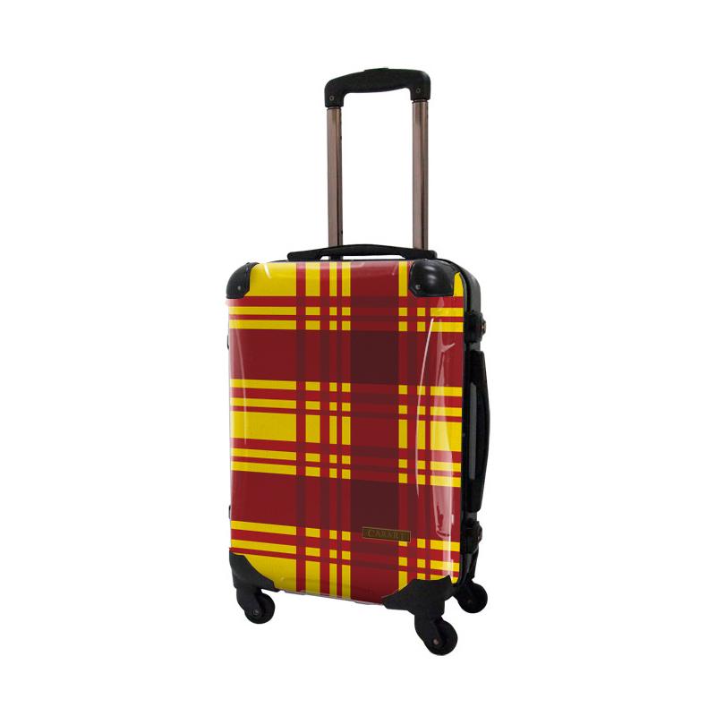 【アウトレット50%OFF】アートスーツケース|ベーシック カラーチェックモダン(イエロー4)|フレーム4輪|機内持込|キャラート
