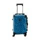 キャラート|アートスーツケース|ベーシック チェックロール|ブルー|フレーム4輪|機内持込