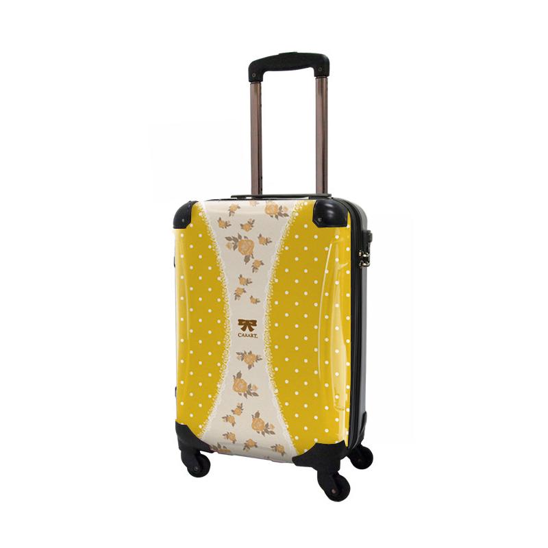 キャラート|アートスーツケース|プロフィトロール ゆるり1(藤黄)|ジッパー4輪|機内持込