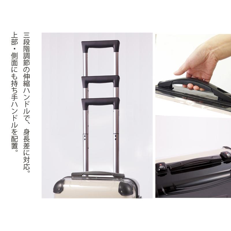 キャラート|アートスーツケース|ベーシック ジオメタリック|ミディアムライトブルー|フレーム4輪|機内持込