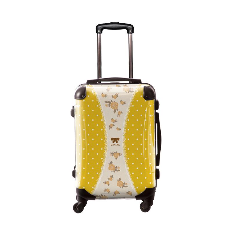 キャラート|アートスーツケース|プロフィトロール ゆるり1(藤黄|フレーム4輪|機内持込