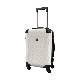キャラート|アートスーツケース|ベーシック チェックロール|オフホワイト|フレーム4輪|機内持込