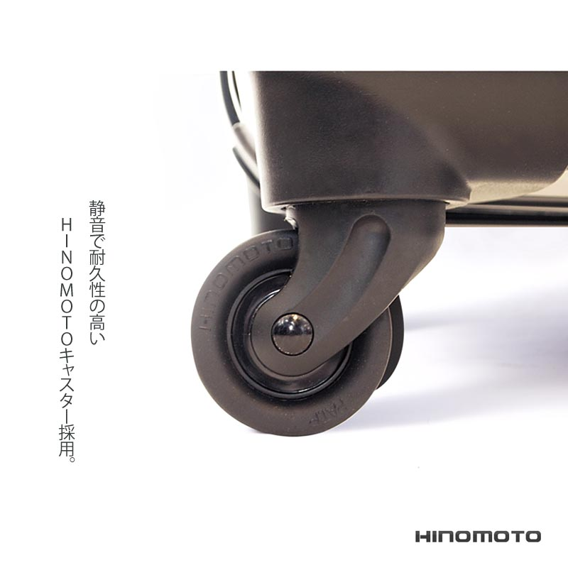 アートスーツケース ベーシック  カジュアルボーダー(ネイビー×ピンク) フレーム4輪 機内持込 キャラート