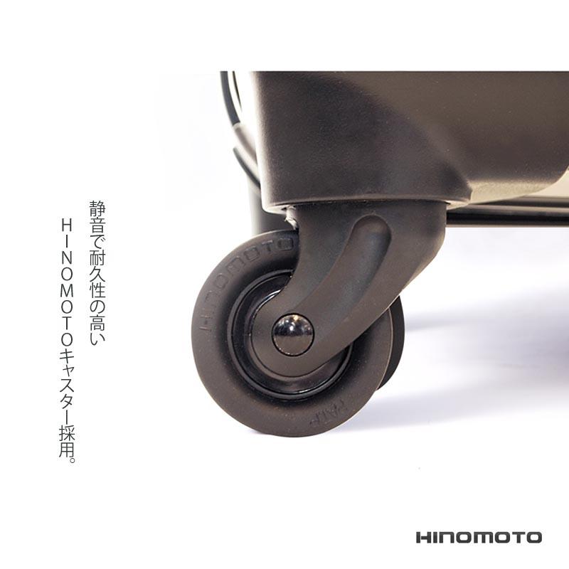 キャラート|アートスーツケース|ベーシック ピポパ(ピーチ×ブラック)|ジッパー4輪|機内持込
