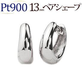 Pt 中折れ式フープピアス(13mmペアシェープ)(sap13pt)