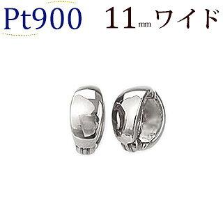 Ptフープイヤリング(ピアリング)(11mmワイド)(ej0003pt)