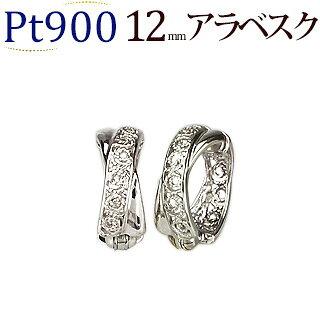 Ptフープイヤリング(ピアリング)(12mmアラベスク)(ej0008pt)