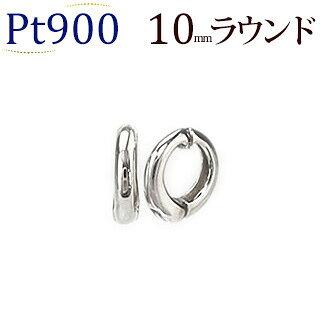 Ptフープイヤリング(ピアリング)(10mmラウンド)(ej0001pt)