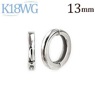 K18WGフープイヤリング(ピアリング)(13mm)(ej0006wg)