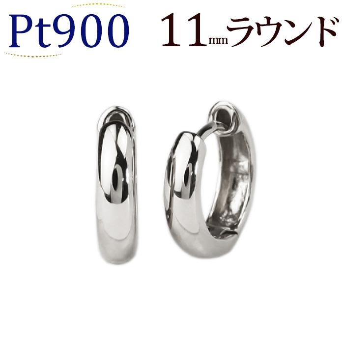 Pt 中折れ式フープピアス(11mmラウンド)(sar11pt)