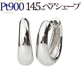 Pt 中折れ式フープピアス(14.5mmペアシェープ)(sap145pt)