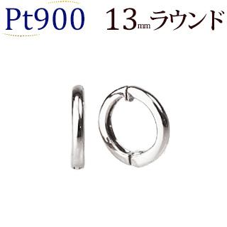 Ptフープイヤリング(ピアリング)(13mmラウンド)(ej0002pt)