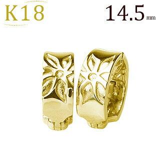 K18フープイヤリング(ピアリング)(14.5mm)(ej0024k)