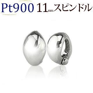 Ptフープイヤリング(ピアリング)(11mmスピンドル)(ej0025pt)