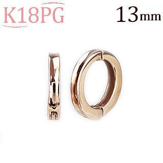 K18PGフープイヤリング(ピアリング)(13mm)(ej0006pg)
