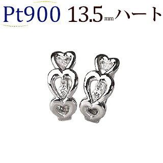 プラチナ中折れ式ダイヤフープピアス(0.04ct)(13.5mm)(sb0081pt)