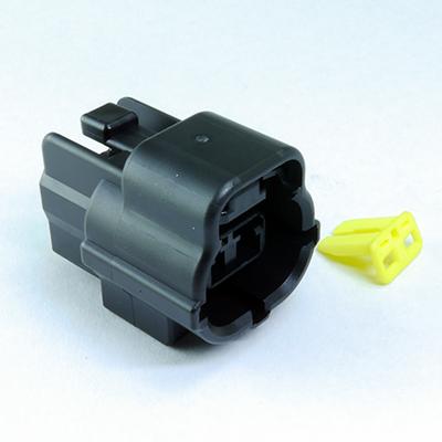 FRA型2極メスコネクター(黒色)