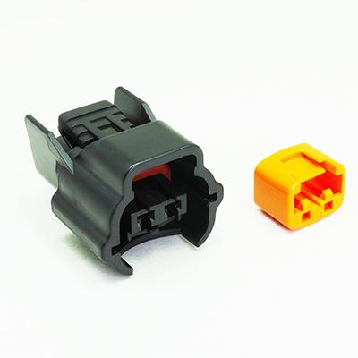 E型2極メスコネクター(黒色)