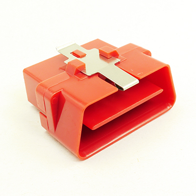 OBD型16極オスコネクターH(赤色)