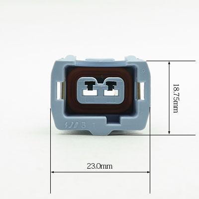BSH型2極メスコネクター(薄青色)